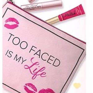 Too Faced is My Life Limited Edition Makeup Bag